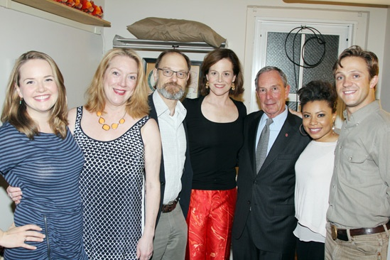 Vanya and Sonia and Masha and Spike- Liesel Allen Yeager – Kristine Nielsen- David Hyde Pierce- Sigourney Weaver- Mayor Michael Bloomberg- Shalita Grant- Creed Garnick