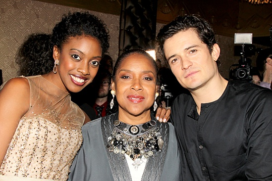 Romeo and Juliet – Opening Night – Condola Rashad – Phylicia Rashad – Orlando Bloom
