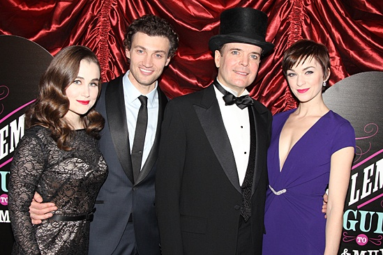 Gentleman's Guide opening night – Lauren Worsham – Bryce Pinkham – Jefferson Mays – Lisa O'Hare