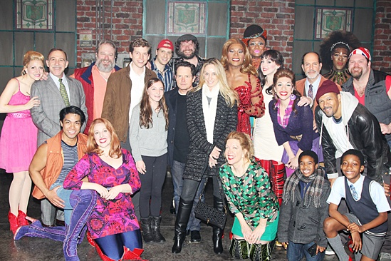 Michael J. Fox Visits Kinky Boots
