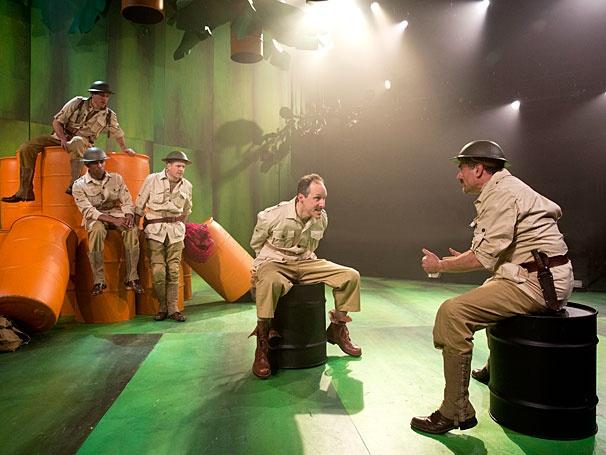 A Man's A Man - show photos - Jason Babinsky - Allan K. Washington - Martin Moran - Gibson Frazier - Steven Skybell