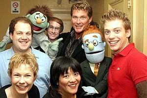 Celebs at Avenue Q - David Hasselhoff - cast