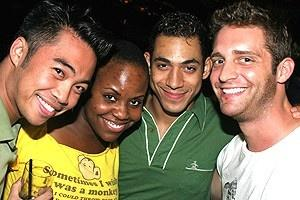 Avenue Q Anniversary/Las Vegas Party - Enrico Rodriguez - Haneefah Wood - Justin Johnston - Colin Hanlon