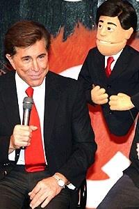 Avenue Q in Vegas - Steve Wynn and puppet