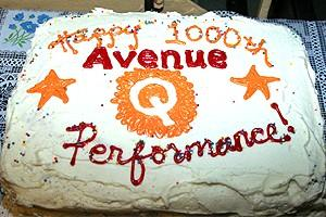 Ave Q 1000th perf - cake