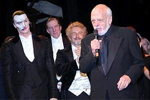 Phantom Record Breaking Party - Hal Prince (curtain)