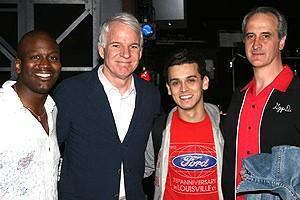 Steve Martin at Jersey Boys - Titus Burgess - Steve Martin - Michael Longoria - Mark Lotito