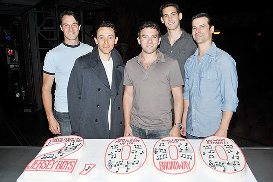 Jersey Boys 2,000th Performance  Matt Bogart  Cory Grant  Jarrod Spector  Ryan Jesse  Dominic Nolfi