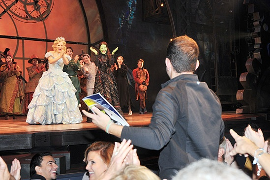 Wicked 5 Millionth Audience Member  Katie Rose Clarke - Mandy Gonzalez  - Brett LaTorre