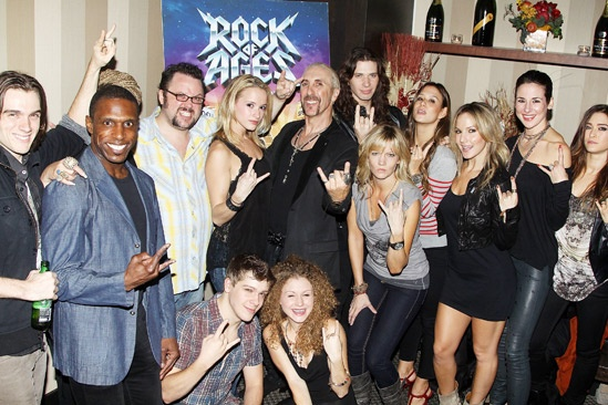 Dee Snider Rock of Ages opening night – ROA Cast