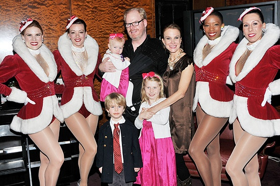 Jim Gaffigan Family http://www.broadway.com/shows/the-radio-city-christmas-spectacular/photos/santa-stars-and-the-rockettes-welcome-audiences-to-the-radio-city-christmas-spectacular/157483/radio-city-christams-jim-gaffigan
