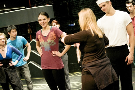 Anything Goes in Rehearsal  Sutton Foster  Kathleen Marshall