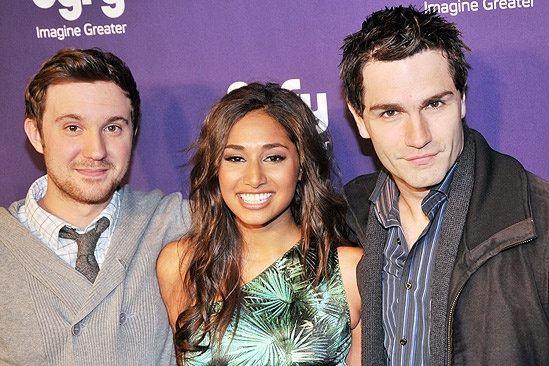 Syfy Stars at <i>Spider-Man, Turn off the Dark</i> - Sam Huntington – Meaghan Rath – Sam Witwer