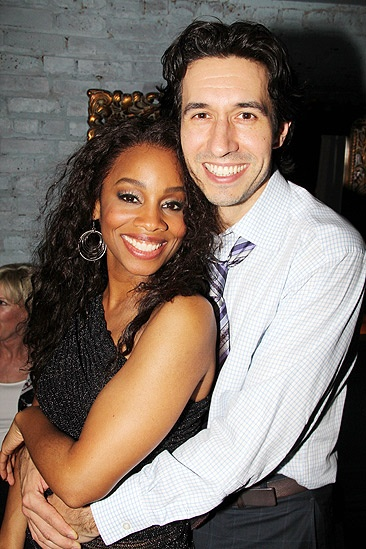 ... Tony winner Anika Noni Rose cuddles up with Company choreographer Josh Rhodes.