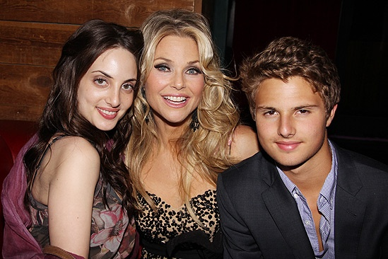 Brinkley Party – Alexa Ray Joel – Christie Brinkley – son Jack