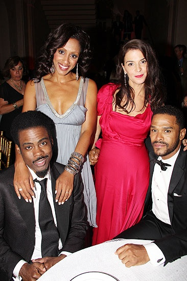 Tony Ball '11 - Chris Rock - wife Malaak -  Annabell Sciorra - Maxwell