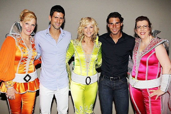 Novak Djokovic and Rafael Nadal at Mamma Mia – Novak Djokovic – Rafael Nadal – Stacia Fernandez – Lisa Brescia – Jennifer Parry