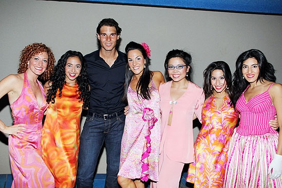 Novak Djokovic and Rafael Nadal at Mamma Mia  Rafael Nadal  ensemble