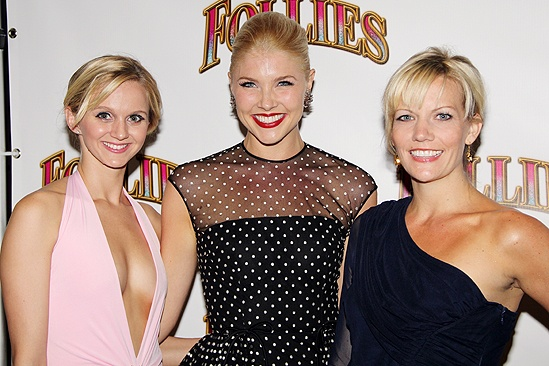 <i>Follies</i> opening night – Leslie Donna Flesner – Amanda Kloots-Larsen – Jennifer Foote