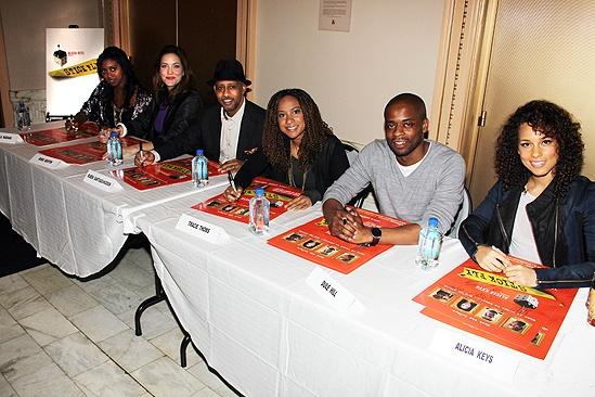 <i>Stick Fly</i> Poster Signing – Condola Rashad – Rosie Benton – Ruben Santiago-Hudson – Tracie Thoms – Dule Hill – Alicia Keys