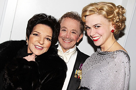 Liza Backstage at Anything Goes - Liza Minnelli - Joel Grey - Sutton Foster