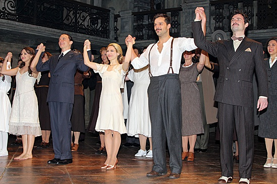 Evita - achel Potter, Michael Cerveris, Elena Roger, Ricky Martin and Max von Essen