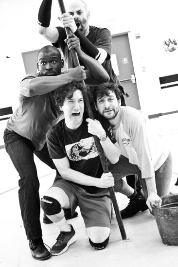 Peter and the Starcatcher Rehearsal – Isaiah Johnson – Carson Elrod – Matt D'Amico – Teddy Bergman