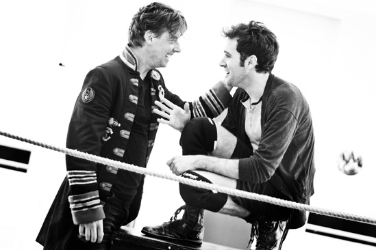 Peter and the Starcatcher Rehearsal  Christian Borle  Adam Chanler-Berat