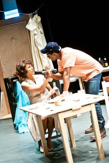 Streetcar Named Desire rehearsal  Nicole Ari Parker  Blair Underwood