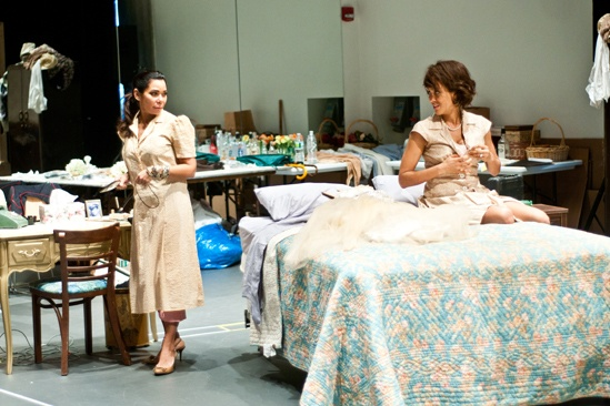 Streetcar Named Desire rehearsal  Daphne Rubin-Vega  Nicole Ari Parker 