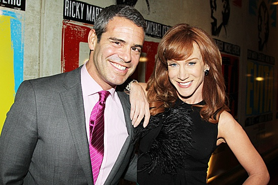 Evita – Opening – Andy Cohen – Kathy Griffin