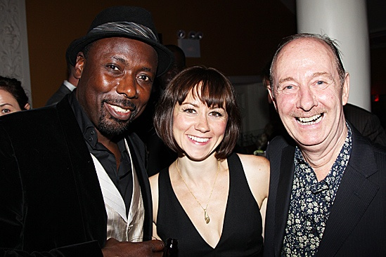 One Man, Two Guvnors opening night  Trevor Laird  Claire Lams  Fred Ridgeway 