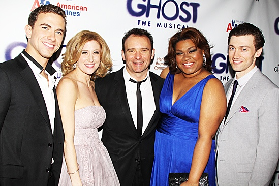 Ghost Opening Night – Richard Fleeshman – Caissie Levy – Matthew Warchus – Da'Vine Joy Randolph – Bryce Pinkham