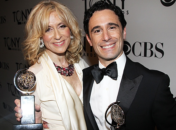 2012 Tony Awards Winners Circle  Judith Light- Christopher Gattelli