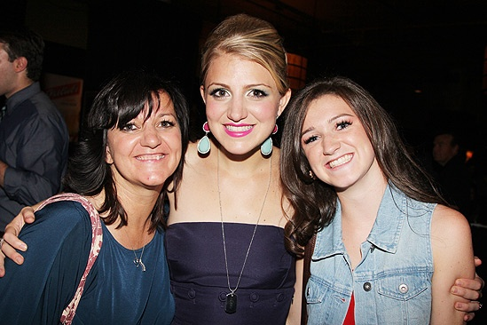 Dogfight Opening Night   Annaleigh Ashford  mom  sister