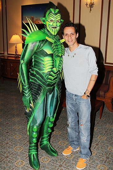Spider-Man Turn Off The Dark – Marc Anthony Visit – Robert Cuccioli – Marc Anthony