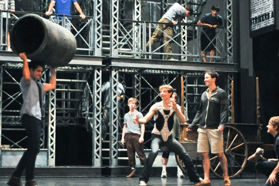 Newsies –Backstage-Corey Cott- Ryan Breslin- Mike Faist- Garett Hawe- Andrew Keenan-Bolger