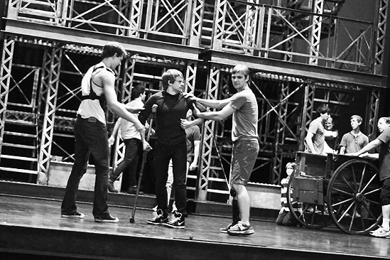 Newsies –Backstage- Mike Faist- Andrew Keenan-Bolger-Brendon Stimson