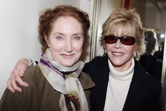 The Heiress  Jane Fonda and Sally Field Visit  Caitlin OConnell  Jane Fonda