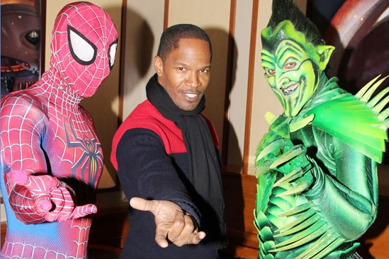 Jamie Foxx at &#39;Spider-Man&#39; - Reeve Carney - Jamie Foxx - Robert Cuccioli