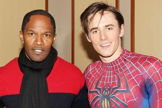Jamie Foxx at 'Spider-Man' - Jamie Foxx - Reeve Carney