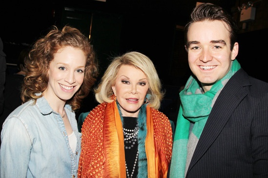 Joan Rivers at 'Forbidden Broadway' — Lindsay Nicole Chambers — Joan Rivers — Charles Osbourne