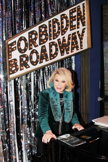 Joan Rivers at Forbidden Broadway  Joan Rivers