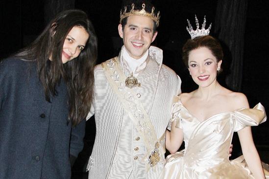 Katie Holmes at Cinderella - Katie Holmes – Santino Fontana- Laura Osnes
