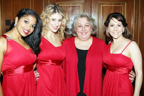 Drama League Gala for Audra 2013  Rebecca Naomi Jones  Caissie Levy  Jayne Houdyshell  Alli Mauzey
