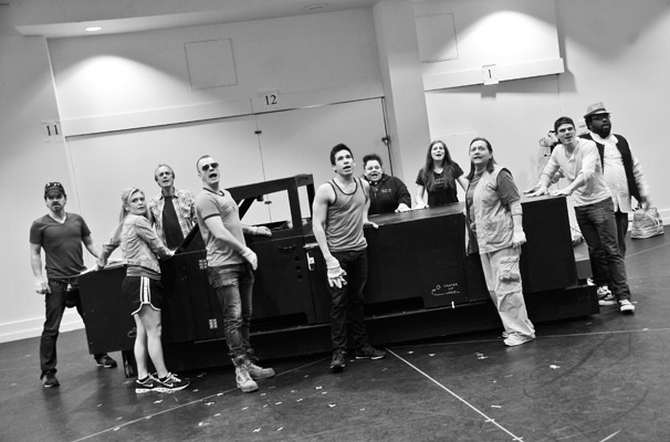 Hands on a Hardbody  Rehearsal  cast
