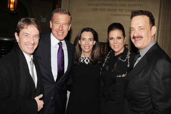 'Lucky Guy' Opening — Martin Short — Brian Williams — Jane Stoddard Williams — Rita Wilson — Tom Hanks