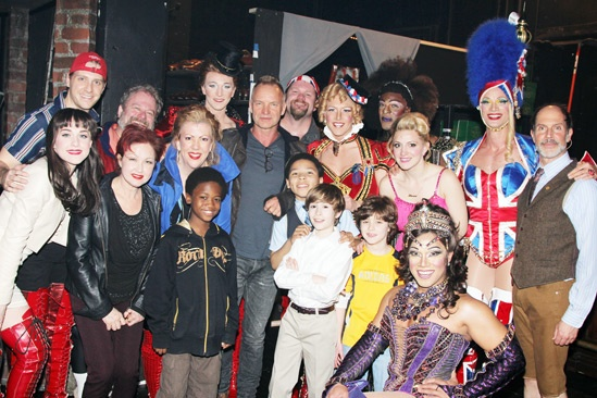 Photo 1 of 6 rock icon sting joins for Cyndi lauper broadway kinky boots