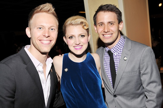 2013 Tony Nominee Brunch — Justin Paul — Annaleigh Ashford — Benj Pasek