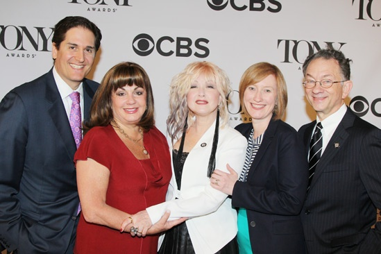2013 Tony Nominee Brunch — Nick Scandalios — Charlotte St. Martin — Cyndi Lauper — Heather Hitchens — William Ivey Long